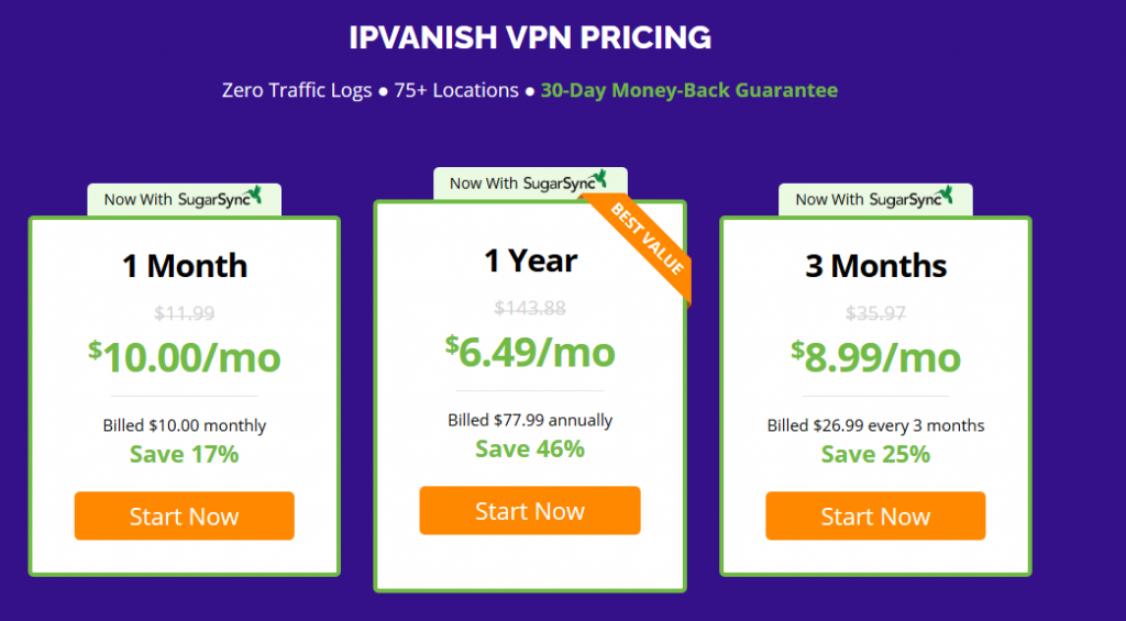 Precios de IPVANISH - VPN